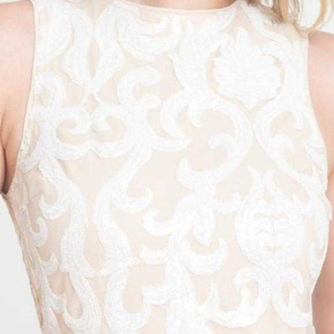 White Sequin Gown | MODA ME COUTURE