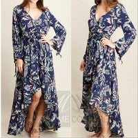 Garden Florals Dress Grey-Dress-Moda Me Couture ®