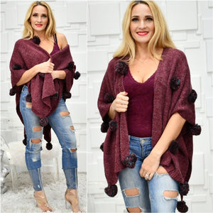 PlayFul Pom Pom Wrap/Shrug