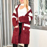 So Soft Comfy Cardigan - Burgundy-Sweater-Moda Me Couture
