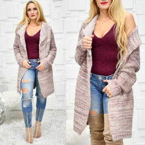 ROSE SOFT FUZZY CARDIGAN