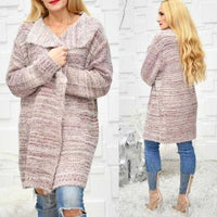 JENNIFER Soft Fuzzy Cardigan - Rose-Sweater-Moda Me Couture