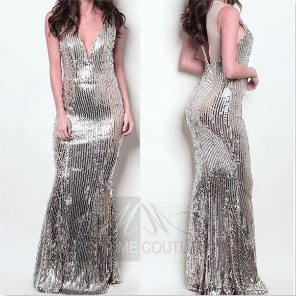 SILVER BELLA Sequin Dress | MODA ME COUTURE