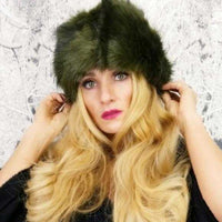 Russian Hat Green-Accessories-Moda Me Couture