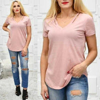 Basics Blush T-Shirt-Tops-Moda Me Couture