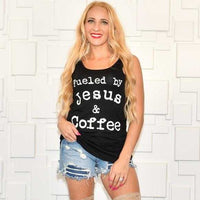 Jesus And Coffee Black Top-Tops-Moda Me Couture
