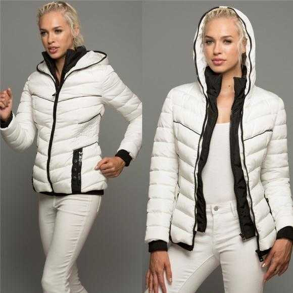 White Layer Puffer Jacket-Jackets & Coats-Moda Me Couture