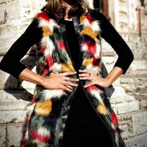 Statement Faux Fur Vest