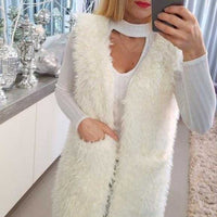 Long Vest-Jackets & Coats-Moda Me Couture