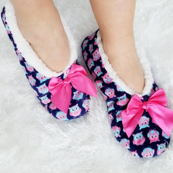 Owl Slippers House Shoes-Shoes-Moda Me Couture