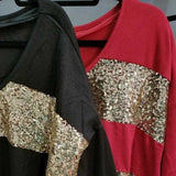 Top Stripes and Sequined-Tops-Moda Me Couture ®