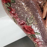 Rose Gold Sequin Set-Pants-Moda Me Couture
