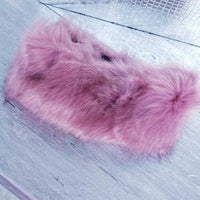 Pink Faux Fur Headband-Accessories-Moda Me Couture