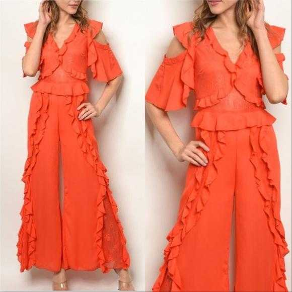 CORAL JUMPSUIT | MODA ME COUTURE