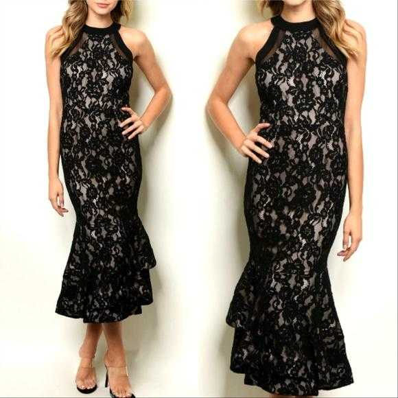 Black Lace Dress | MODA ME COUTURE