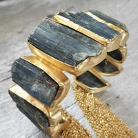 Labradorite Rough Handcrafted Cuff Bracelet-Jewelry-Moda Me Couture