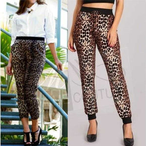 Leopard Print Joggers | MODA ME COUTURE