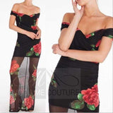 Roses are Red Maxi Dress-Dress-Moda Me Couture ®