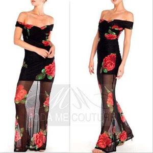 Roses are Red Maxi Dress | MODA ME COUTURE