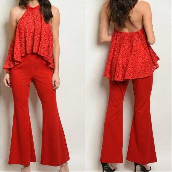 Top & Pants Chic Red Set-Pants-Moda Me Couture ®