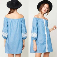 BOHO BEAUTY Denim Dress | MODA ME COUTURE