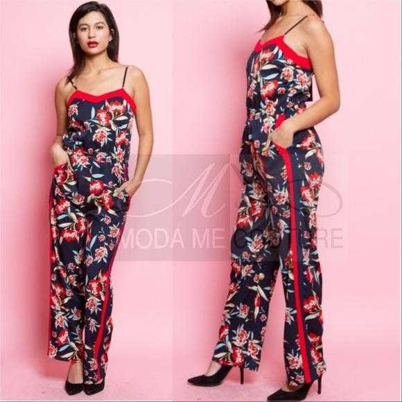 STUNNING FLORAL PRINT JUMPSUIT | MODA ME COUTURE