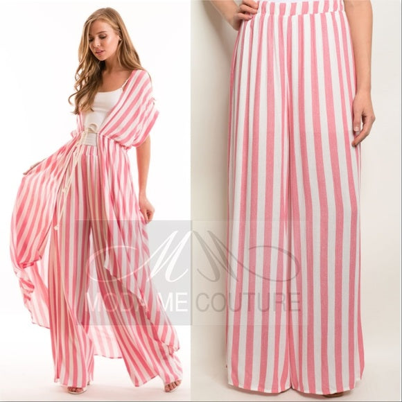 Pink Striped Pants