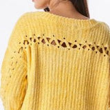 Yellow Chenille Sweater-Sweater-Moda Me Couture