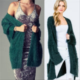CINDY Soft Fuzzy Cardigan-Sweater-Moda Me Couture