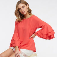 Keri Coral Top-Tops-Moda Me Couture