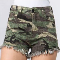 Army Print Shorts-Pants-Moda Me Couture