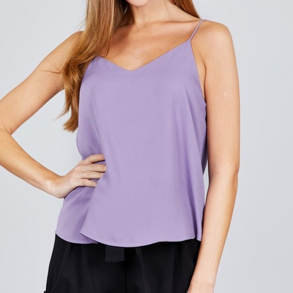 Zoey Lavender Camisole Top-Tops-Moda Me Couture