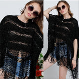 Angela Fringe Top Black-Tops-Moda Me Couture