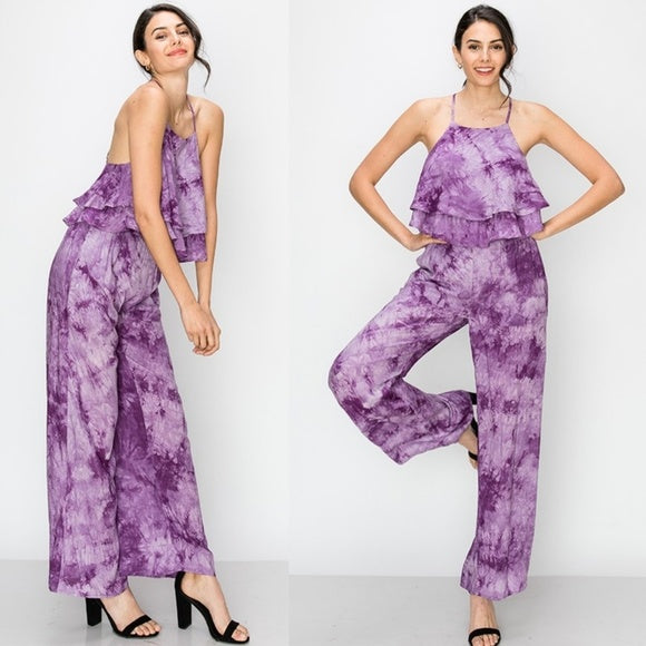Tie-Dye Top and Pants Set-Pants-Moda Me Couture