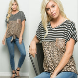 Top Leopard Stripes-Tops-Moda Me Couture