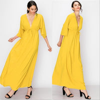 Sunny Day Empire Waist Maxi Dress - Yellow-Dress-Moda Me Couture