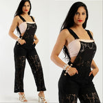 Black Lace Jumpsuit Overalls
