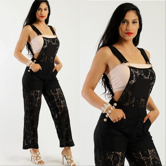 Lace Jumpsuit Overalls-Pants-Moda Me Couture