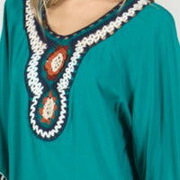 Ziggy Teal Tunic Top-Tops-Moda Me Couture
