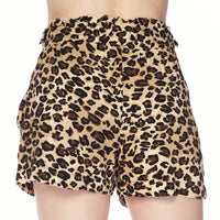 Animal Print Shorts Leopard-Pants-Moda Me Couture