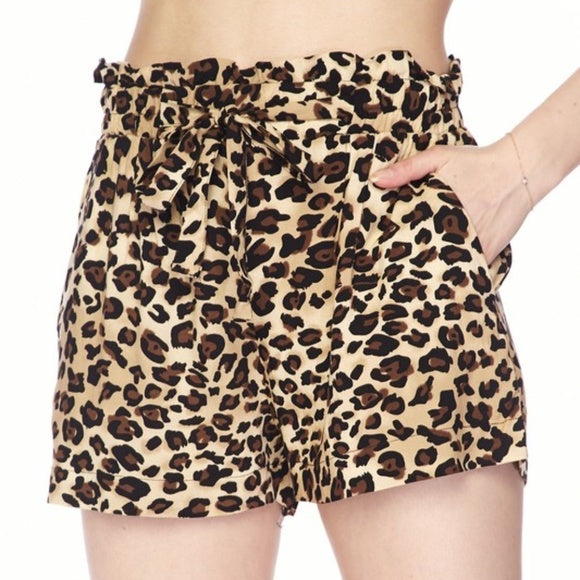 Animal Print Shorts Leopard