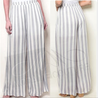 Lavendar Striped Pants-Pants-Moda Me Couture