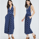 Polka-Dot Jumpsuit-Pants-Moda Me Couture
