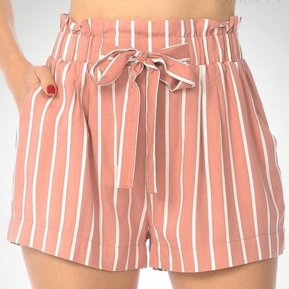 Blush Striped Shorts