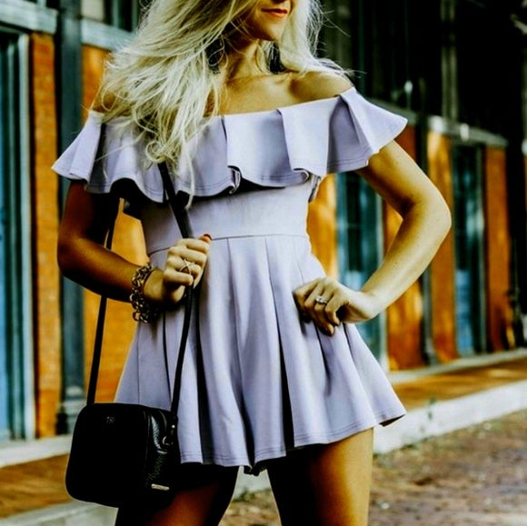 Lady In Lilac Romper-Pants-Moda Me Couture