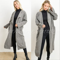 SANDRA Oversized Jacket with Pockets - Black