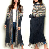 Cecilia Multi Colored Cardigan Blue-Sweater-Moda Me Couture