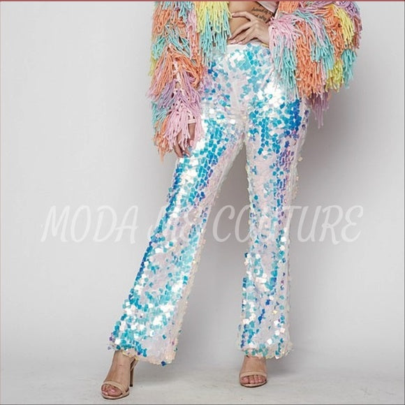 Party Girl Sequin Pants-Pants-Moda Me Couture