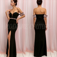 Elle Elegant Dress Black-Dress-Moda Me Couture