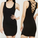 Ribbed Mini Dress-Dress-Moda Me Couture